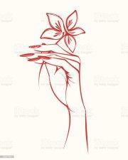 ilustraci de mano mujer hermosa