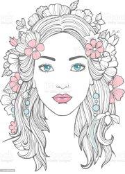 ilustra de retrato mulher