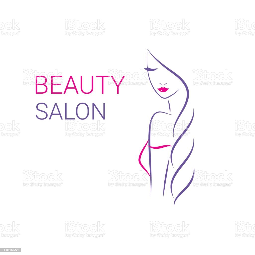beautiful woman vector logo template