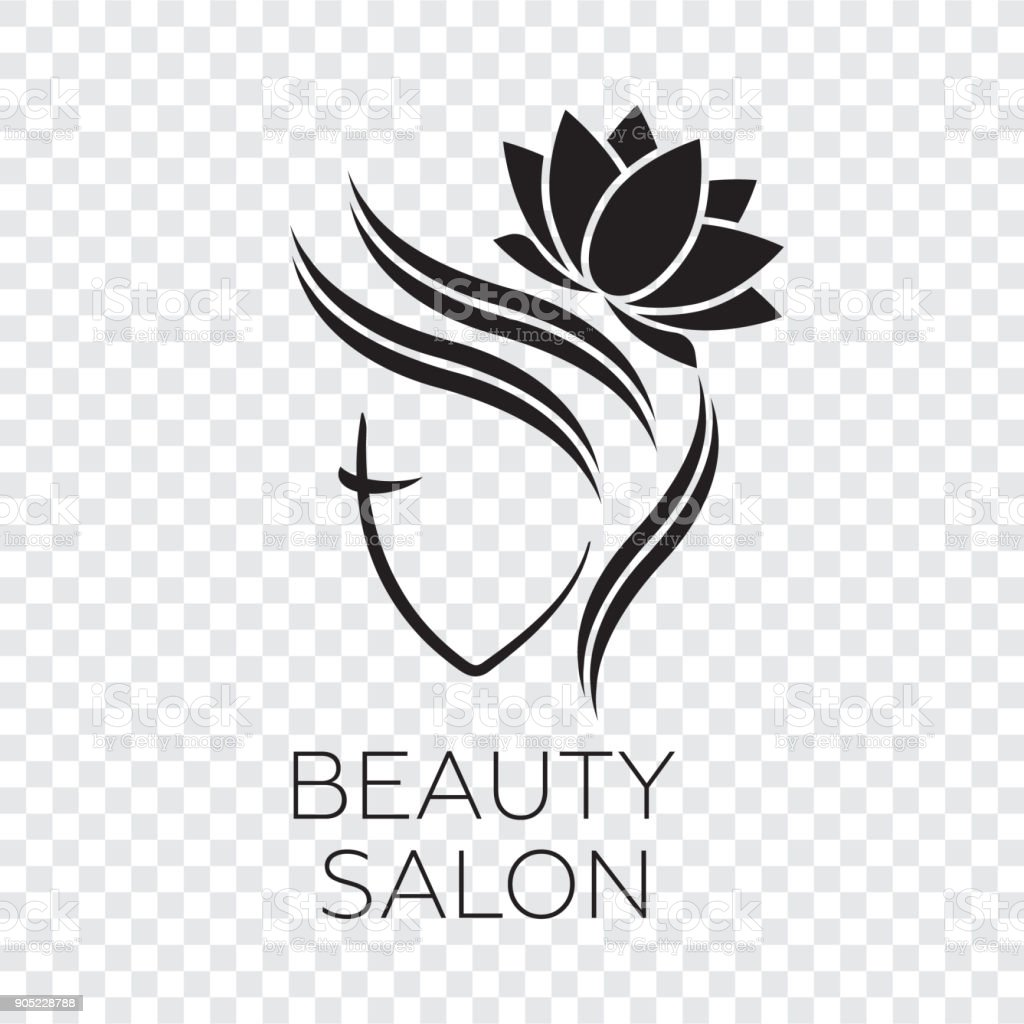 Beautiful Woman Vector Logo Template For Hair Salon Logo