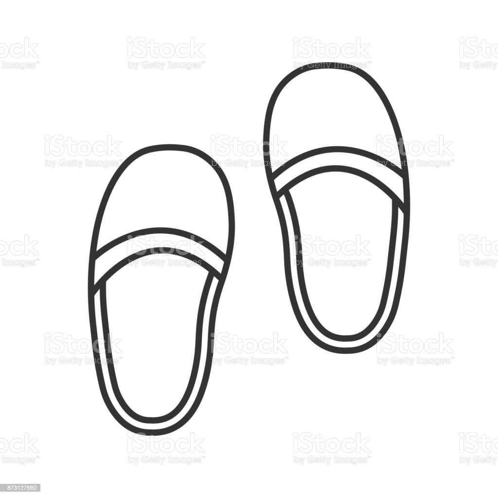Bedroom Slippers Icon Stock Vector Art & More Images of