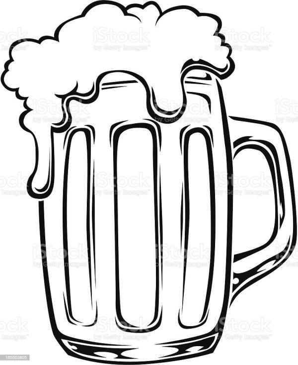 beer glass stock vector art &