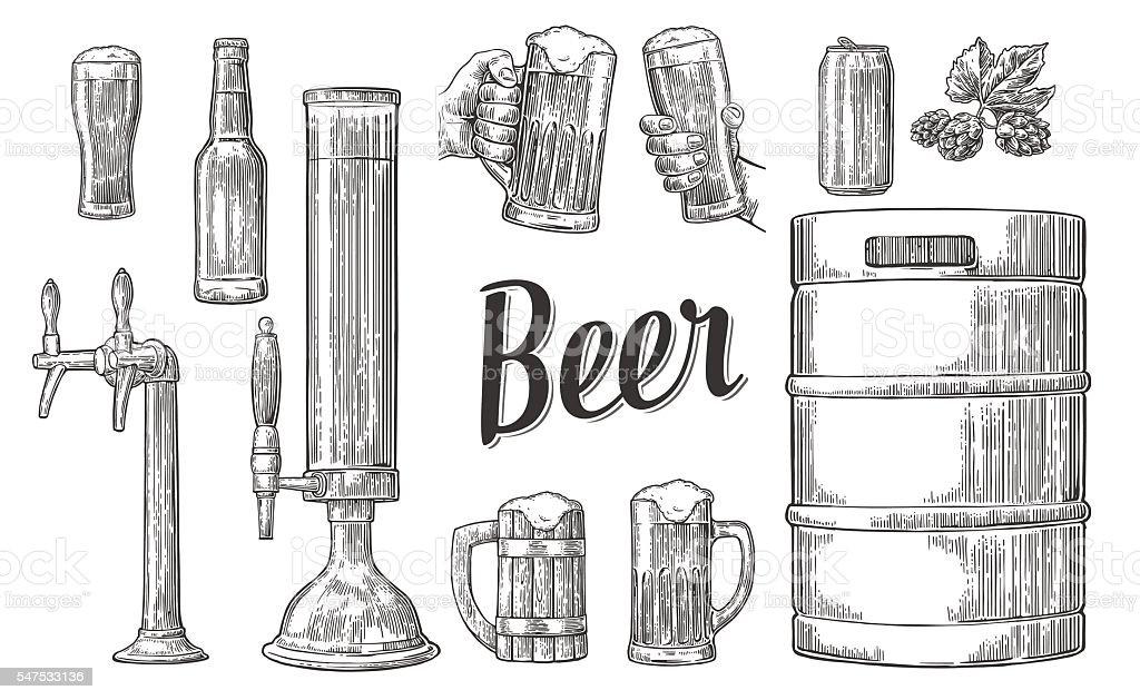 Beer Tap Clip Art, Vector Images & Illustrations