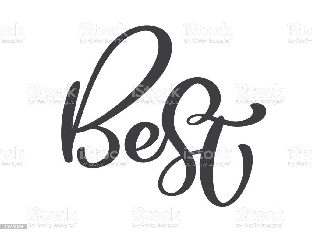 best vector calligraphy lettering