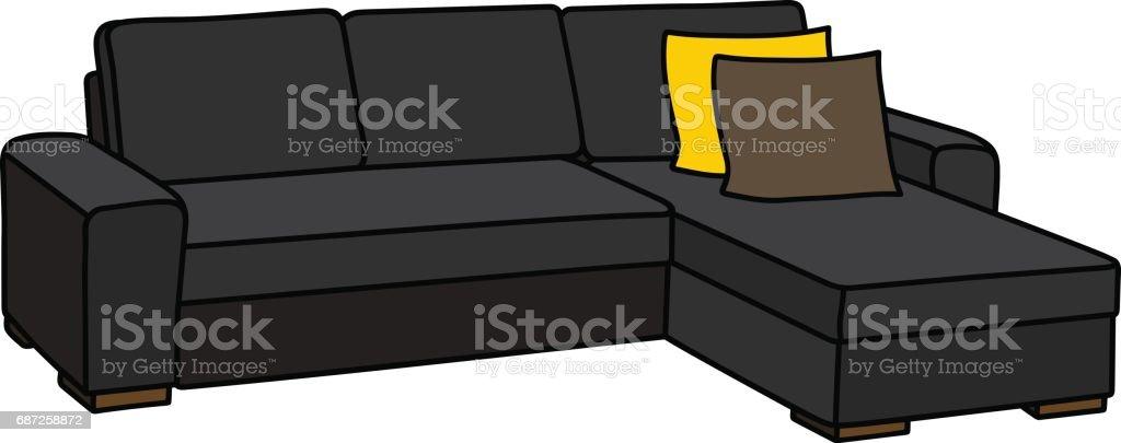 Big Black Couch Stock Vector Art 687258872 IStock