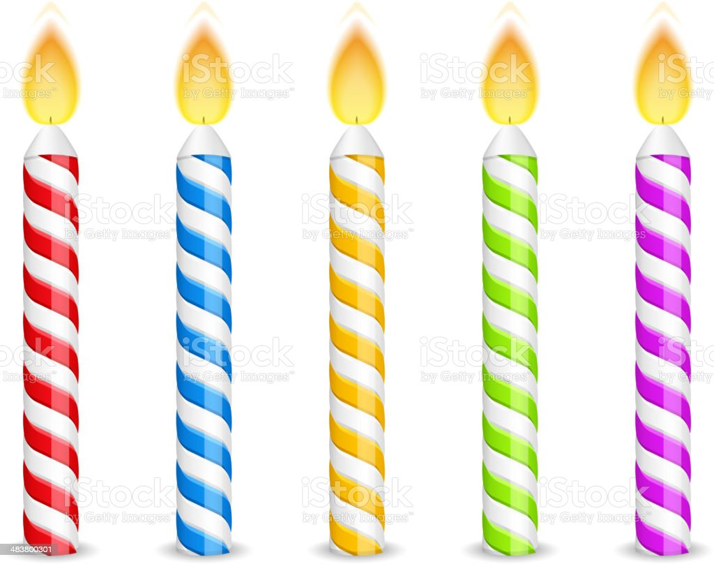 best birthday candle illustrations