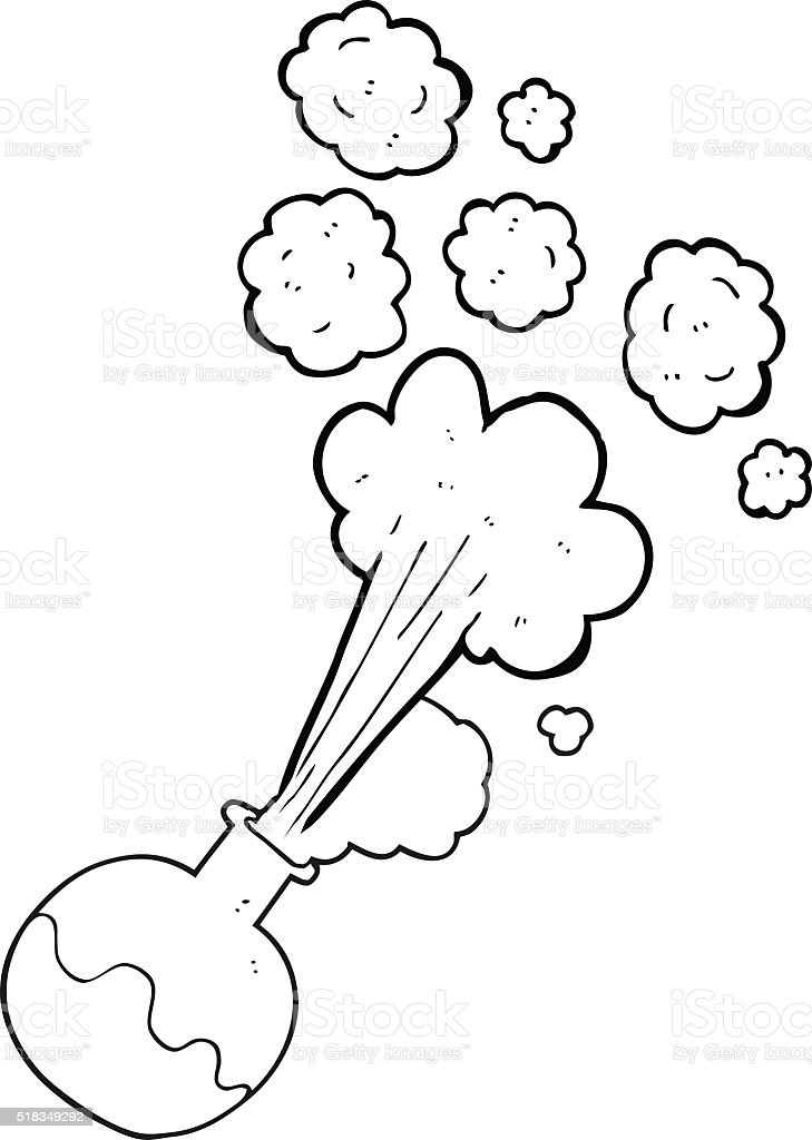 Black And White Cartoon Chemical Reaction Stock Vector Art