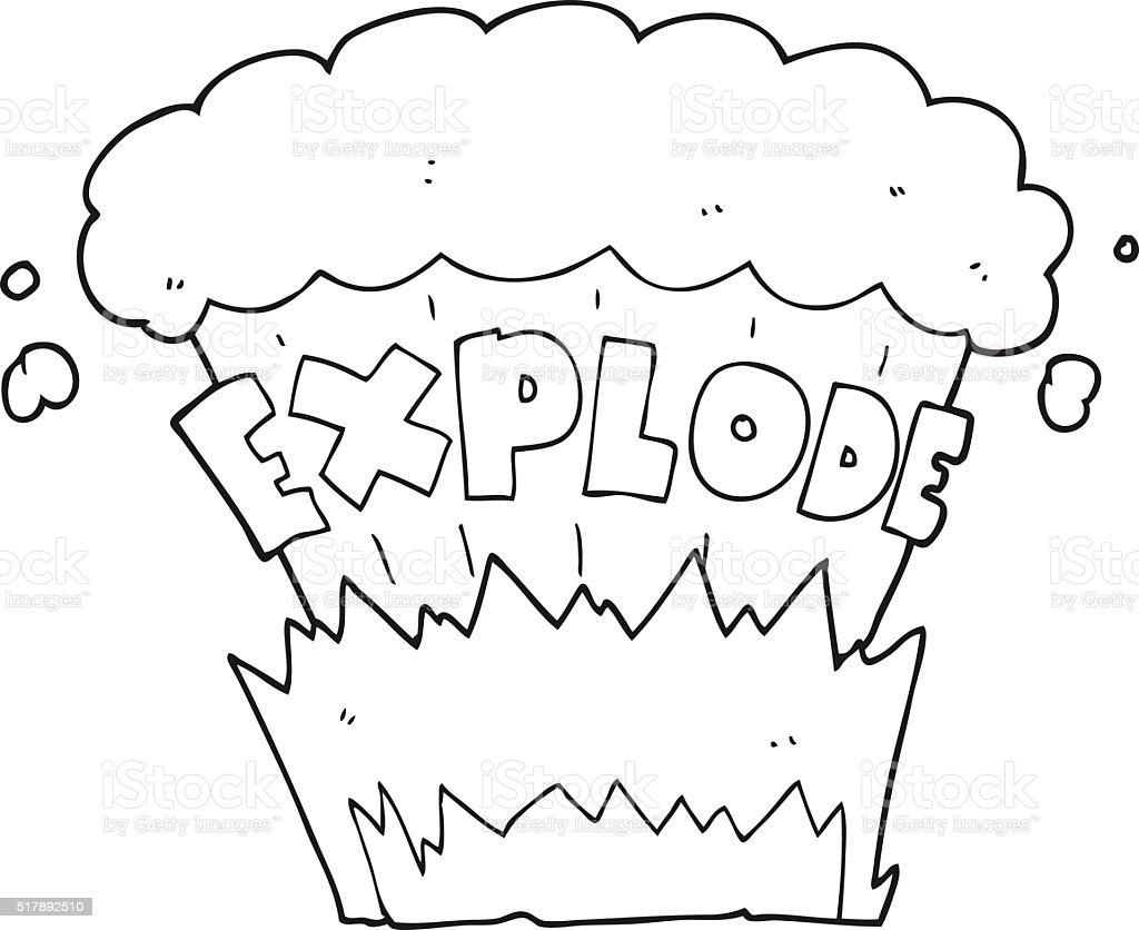 Preto E Branco Fogo De Explosão Download Vetor e