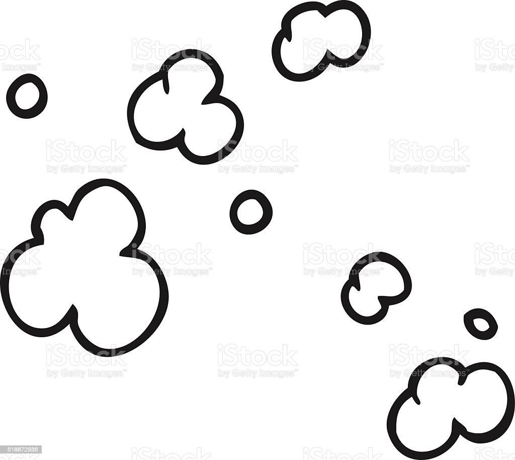 Black And White Cartoon Puff Of Smoke Symbol stock vector