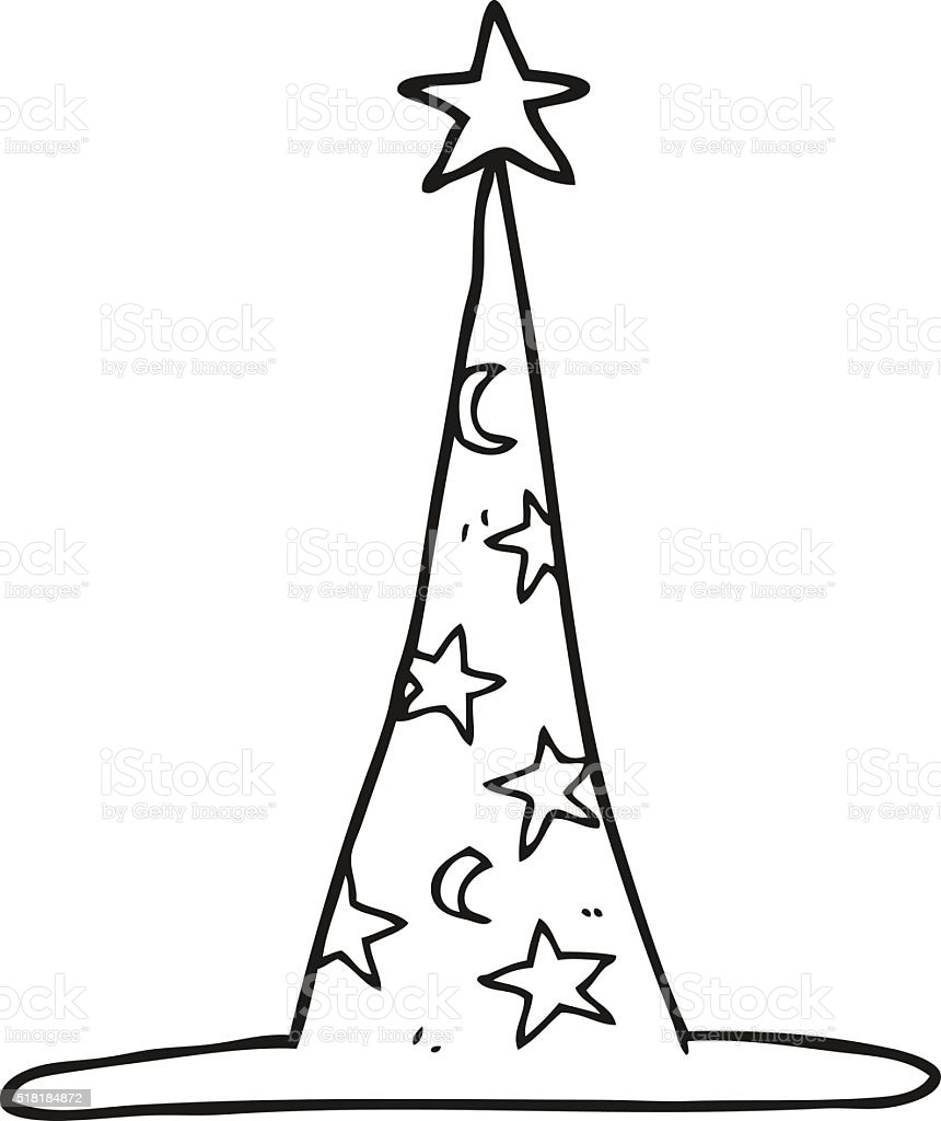 Black And White Cartoon Wizard Hat Stock Vector Art & More