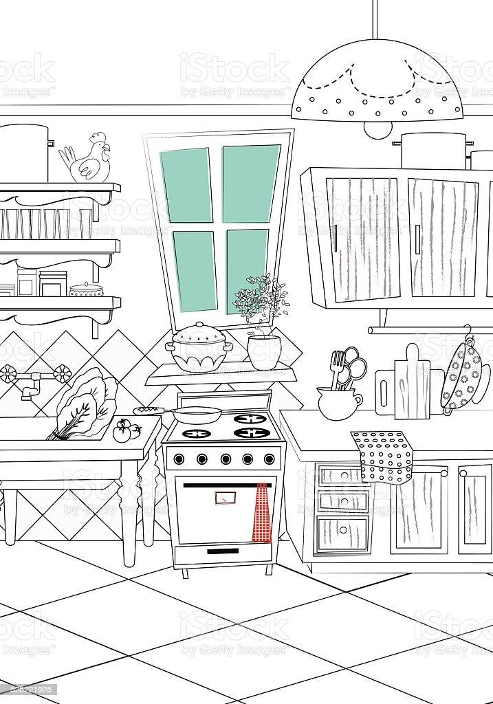 Cocina Dibujo Amazing Utensilios De Cocina Ollas Y Sartenes En Dibujado A Mano El Estilo De Dibujo Con Cocinero En La Cocina Elegant Dibujo