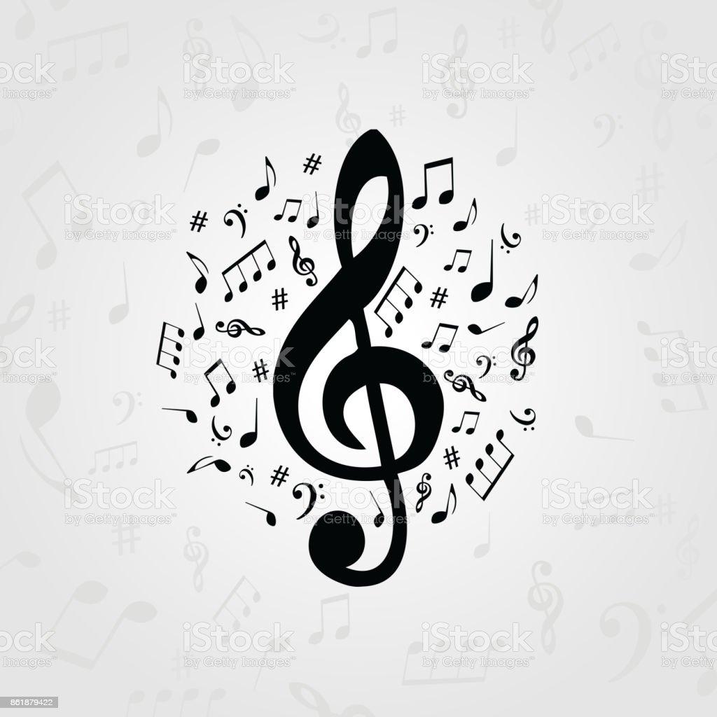 affiches de musique noir et blanc avec des notes de musique vecteurs libres de droits et plus d images vectorielles de affiche istock
