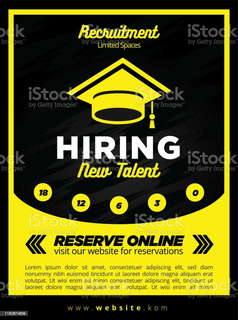 we are now hiring poster template free vector 162840 vector art at vecteezy