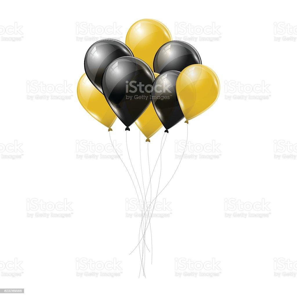 royalty free gold balloons clip