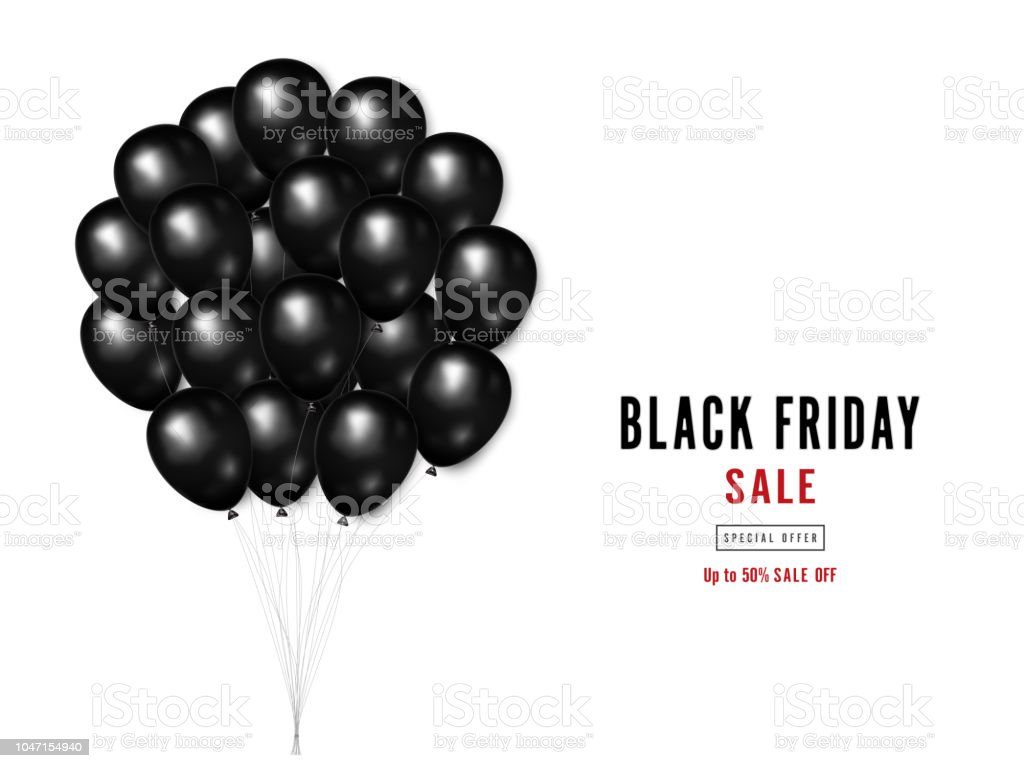 https www istockphoto com fr vectoriel black friday avec ballons brillants sur un fond carr c3 a9 blanc que business gm1047154940 280122654