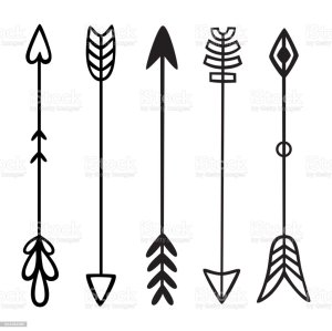arrows tribal vector drawn hand arrow bow hipster doodles elements ethnic clip illustration illustrations sketch vectors istock graphics greeting poster