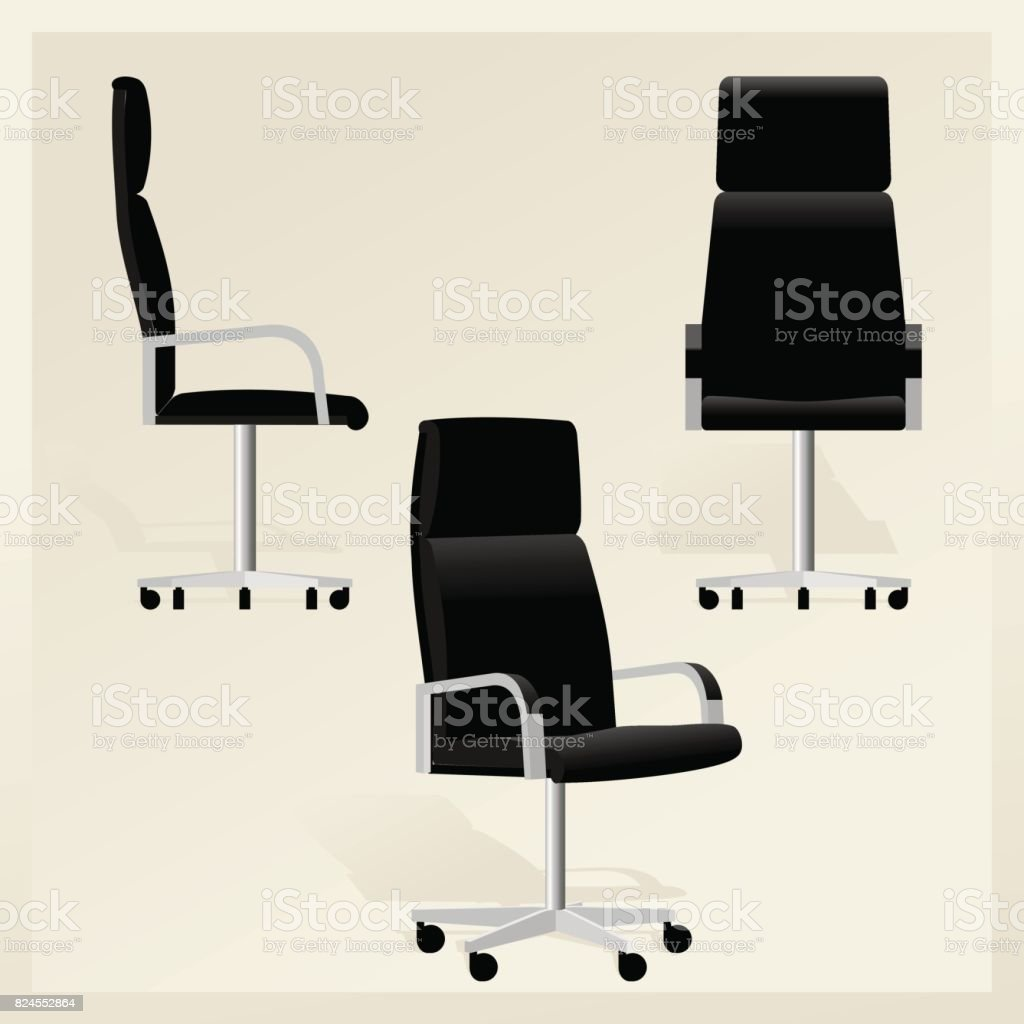 office chair illustration folding dimensions royalty free clip art vector images illustrations black leather for boss