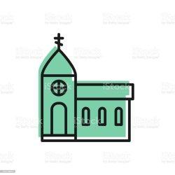 Church Building Church Clipart Black And White
