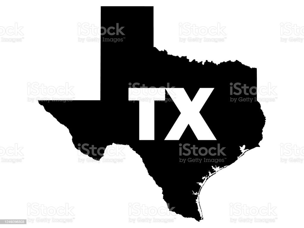 1874 and 1943, united states official postal guide; Black Map Of Texas With Postal Code Abbreviation Stock Illustration Download Image Now Istock