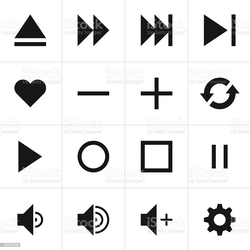 Black Sign Media Player Icon Web Button Simple Pictogram
