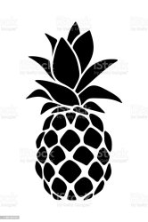pineapple silhouette vector ananas clip clipart silueta vecteur illustrations illustrazione illustratie nera siluetta vettore isolated blanco negro naddiya silhouet zwart