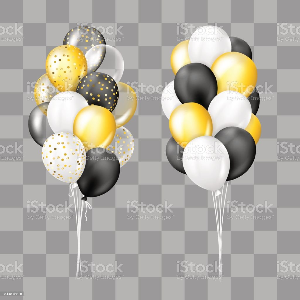 royalty free bunch of black balloons