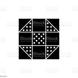 churn quilt vector illustrations block clip quilting vectors icon dash pattern het witte vectorillustratie zwarte