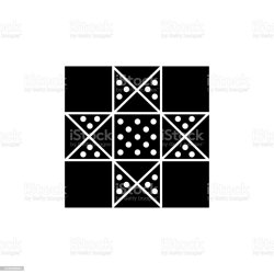 Black White Vector Illustration Of Lone Star Quilt Pattern Flat Icon Of Quilting Patchwork Geometric Design Template Isolated On White Background Stock Illustration Download Image Now iStock