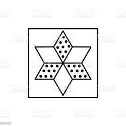 Black White Vector Illustration Of Star Quilt Pattern Line Icon Of Quilting Patchwork Design Template Isolated On White Background Stock Illustration Download Image Now iStock
