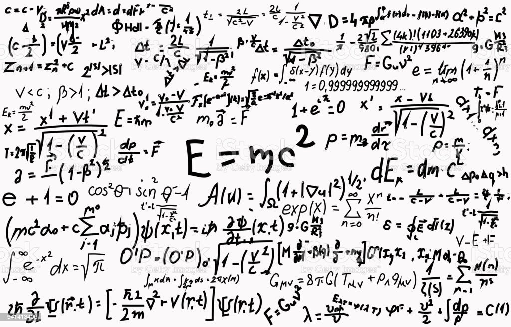 Blackboard Inscribed With Scientific Formulas And