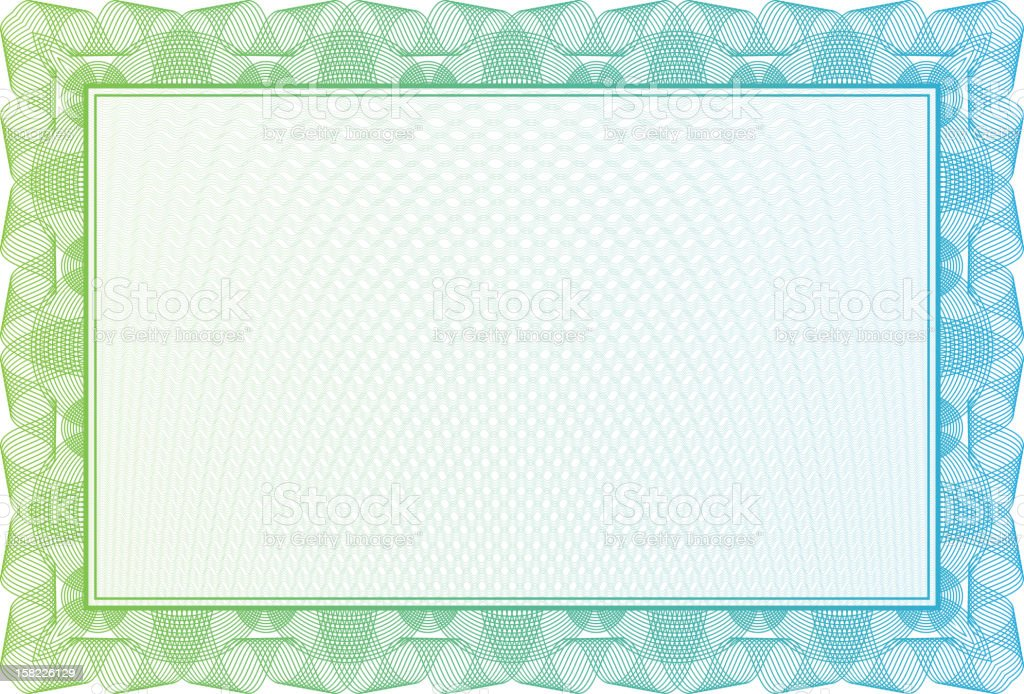 Blank Certificate With Green Border Stock Vector Art & More Images ...