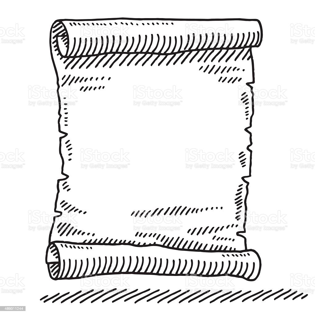 Blank Paper Scroll Drawing Stock Vector Art & More Images