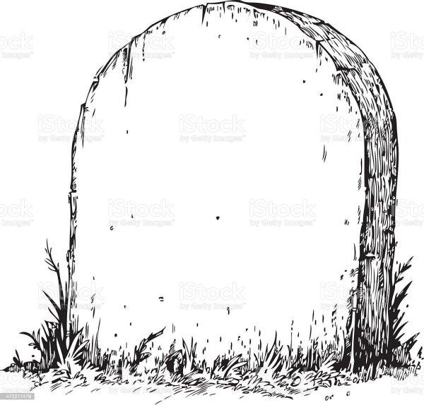 blank tombstone stock vector art