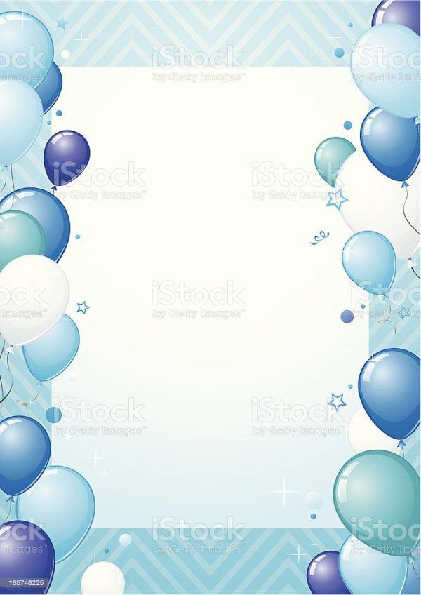 blue balloons design stock vector