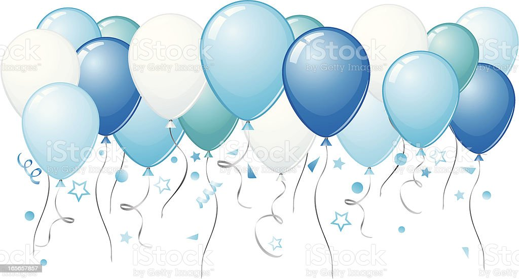 blue balloon illustrations