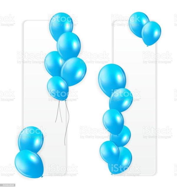 blue balloons vector illustration