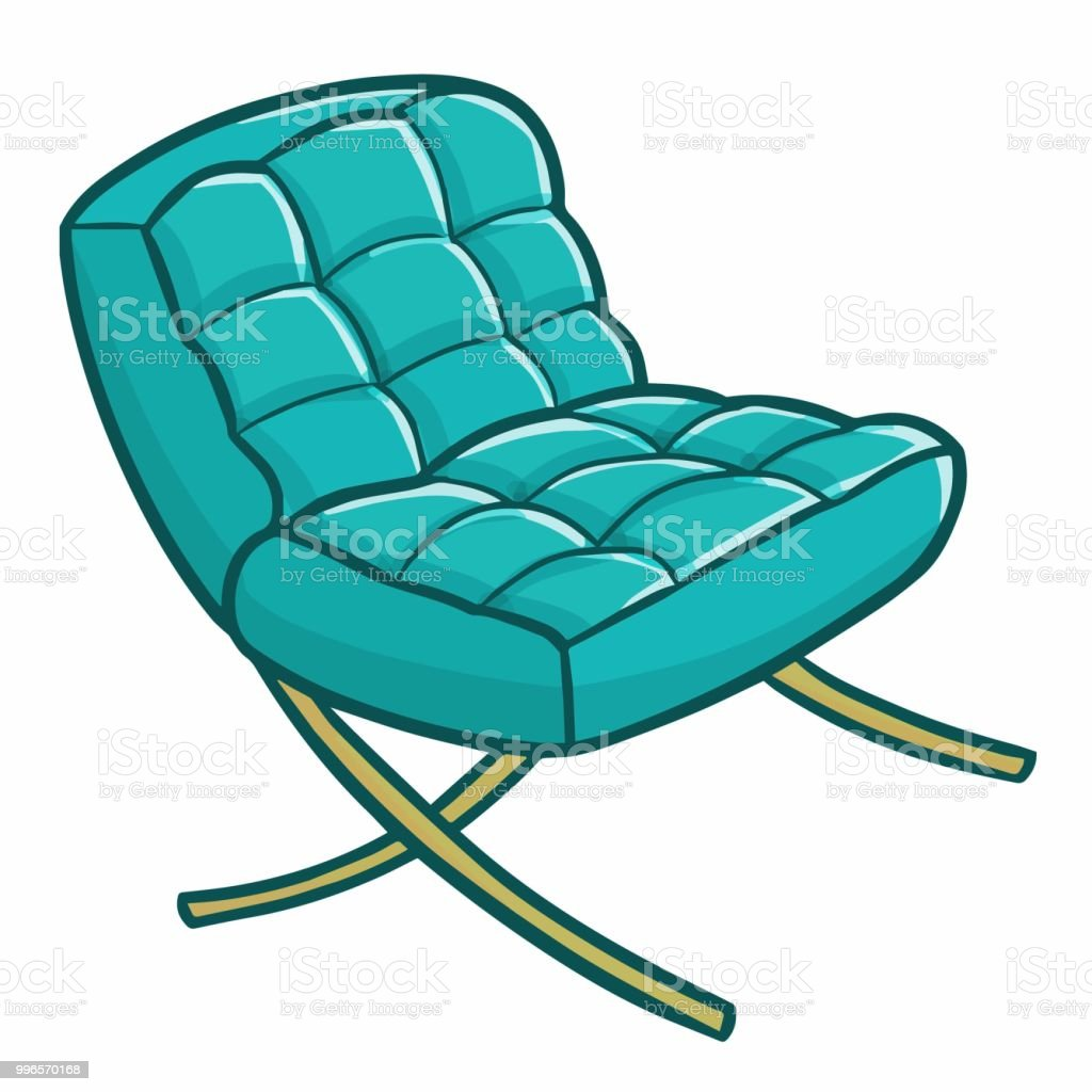 blue green chair modern salon styling chairs stock vector art and more images of
