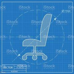 Office Chair Vector Exercise Ball Reviews 청사진 아이콘크기 사무 의자 일러스트 528916264 Istock