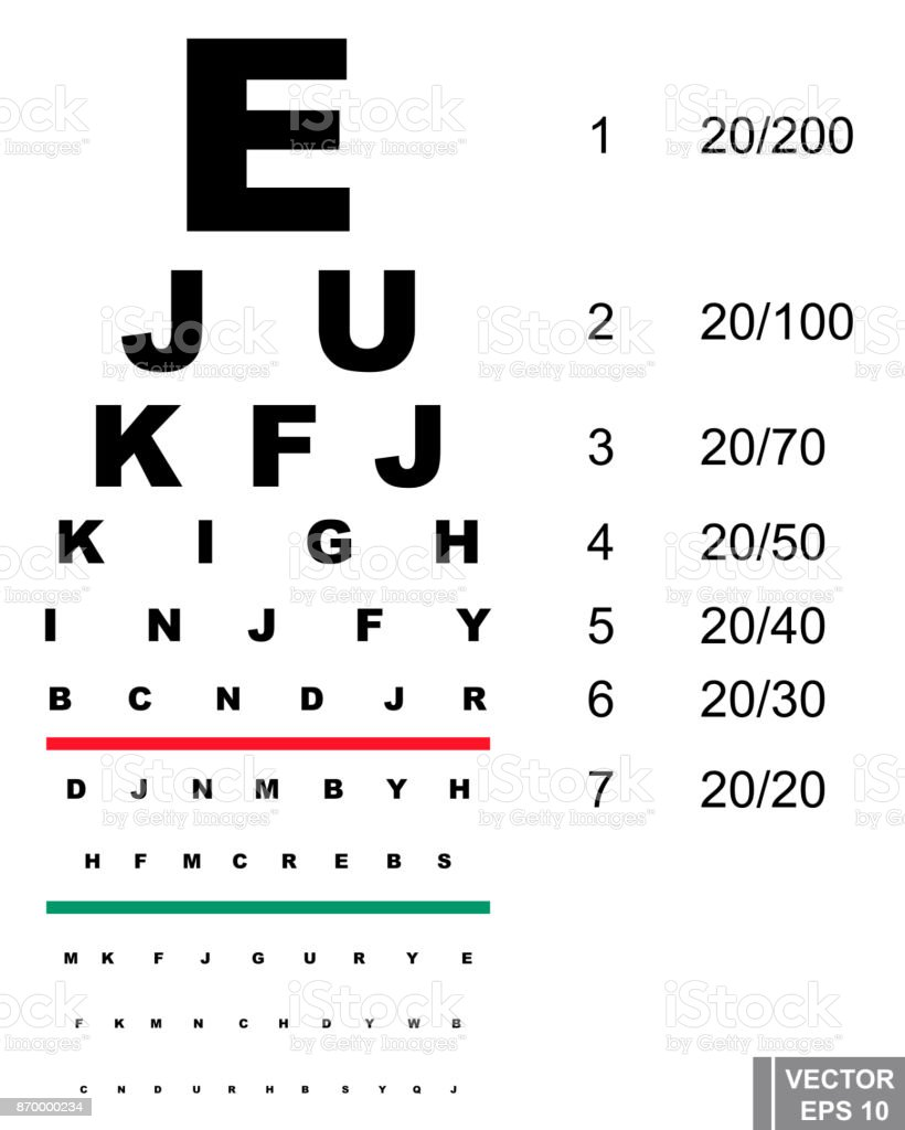 Board For Checking Eyesight Letters Eyes For Your Design