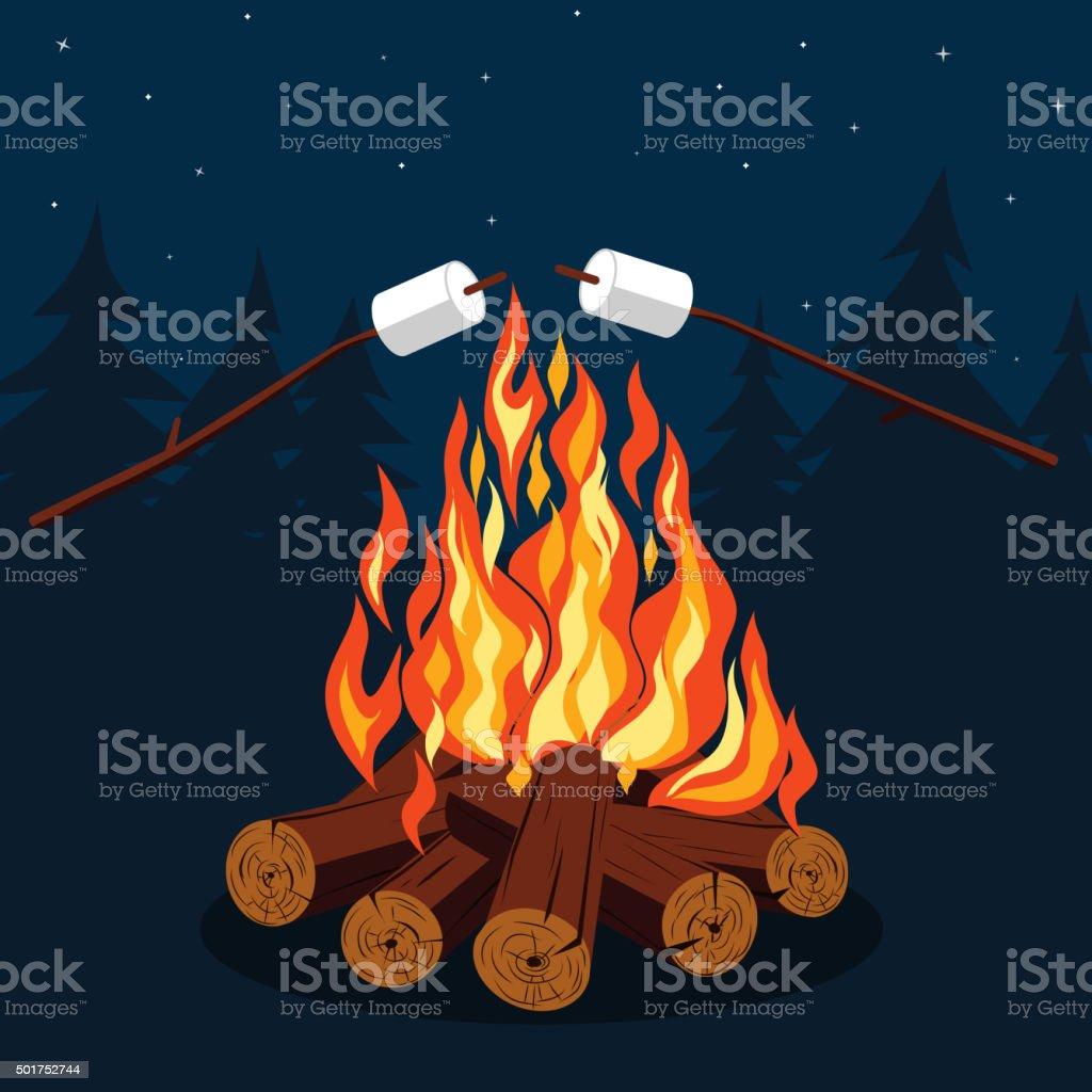 bonfire clip art vector
