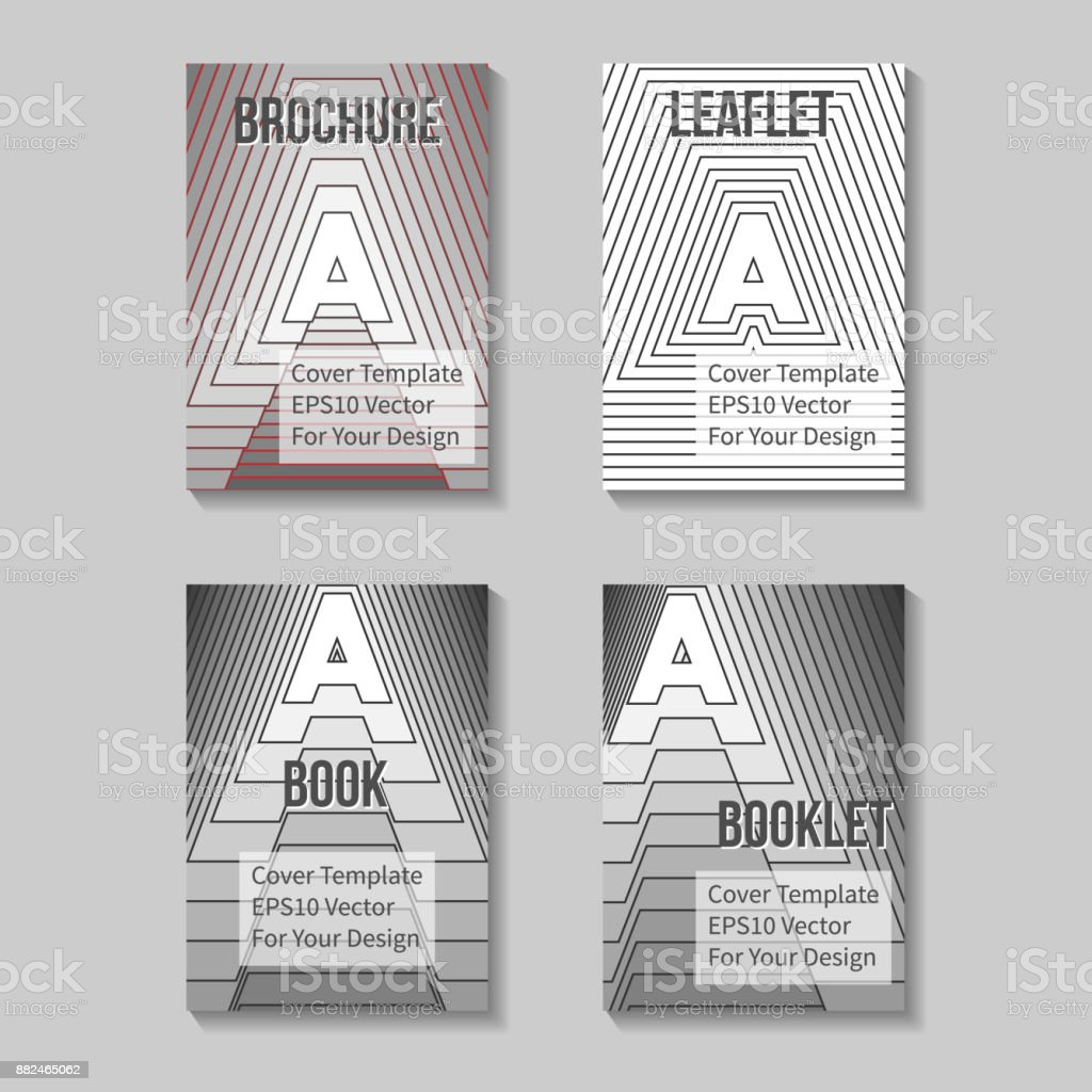Book Title Page Template Business Report Cover Stock Vector Art ...