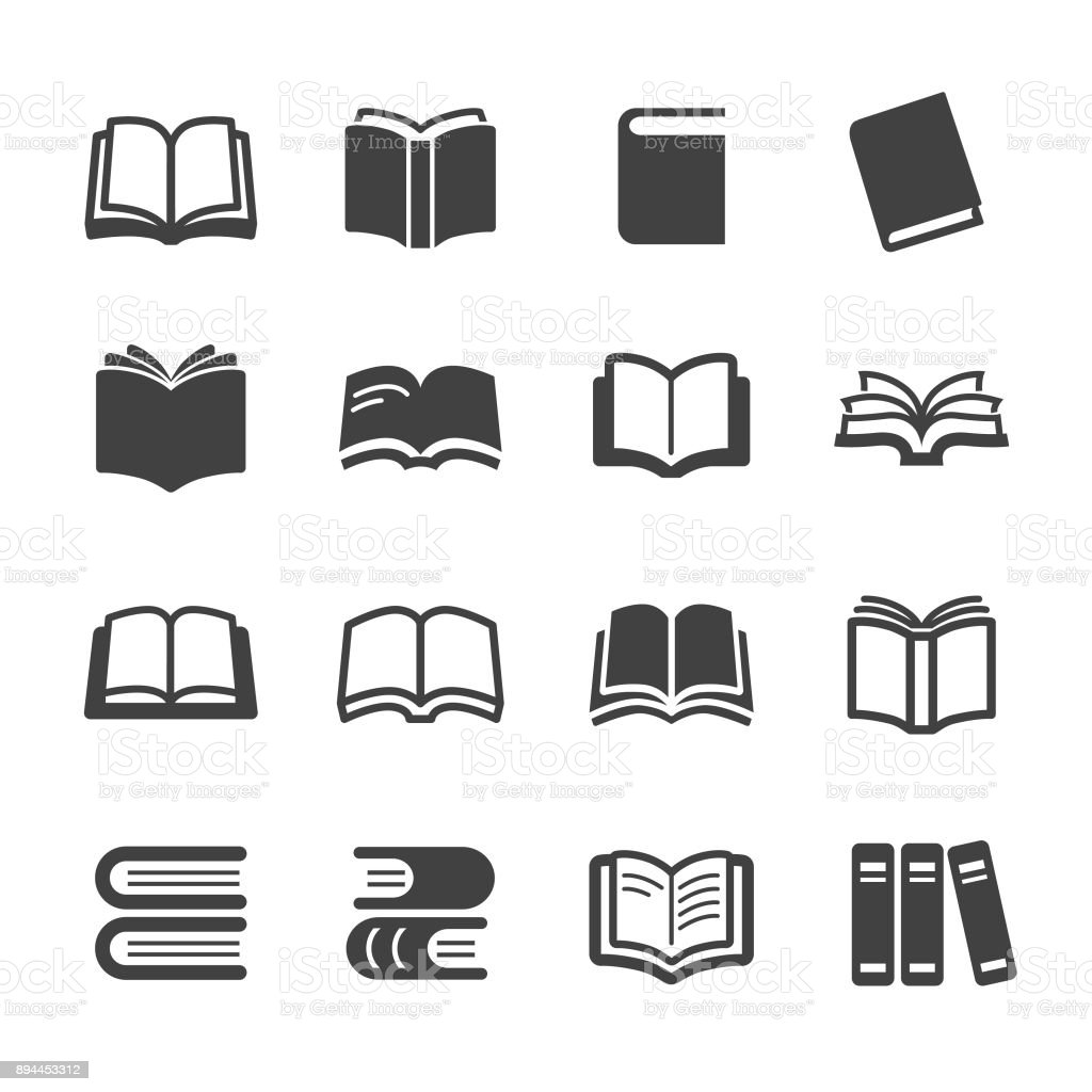 Books Icons Acme Series Stock Vector Art & More Images of