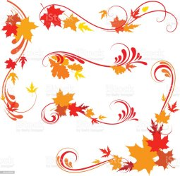 border leaves autumn designs vector istock only