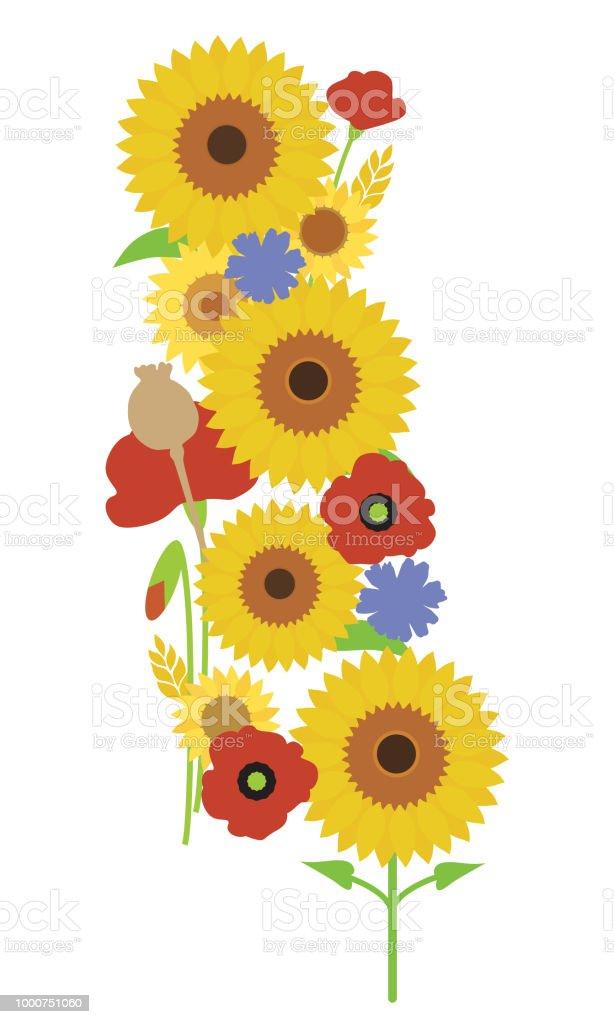red sunflower clip art