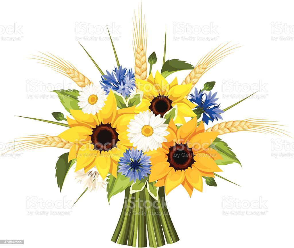 royalty free sunflower bouquet