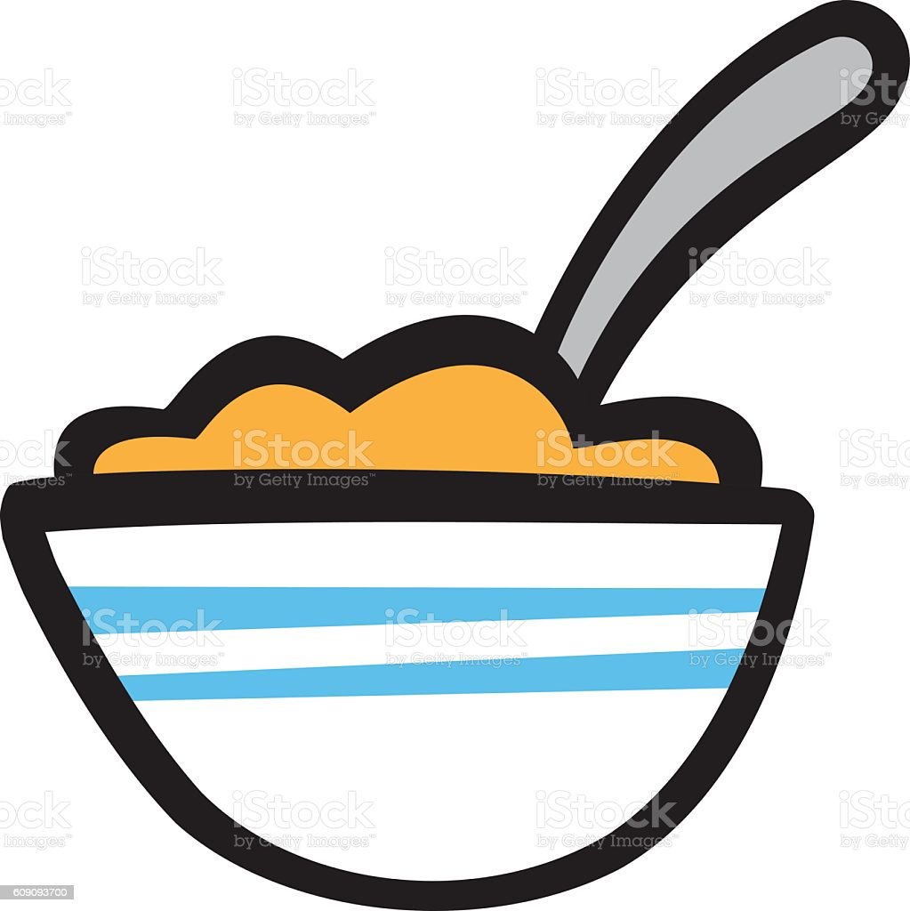 hight resolution of bowl of cereal vector icon royalty free bowl of cereal vector icon stock vector art