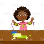 Junge Tun Papier Flagge Girlande An Einem Faden Grundschule Kunstunterricht Vektorillustration Stock Vektor Art Und Mehr Bilder Von Bastelarbeit Istock