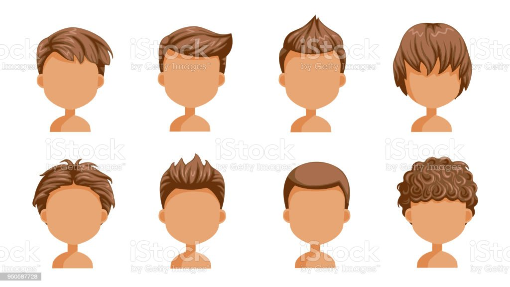 curly hair boy illustrations