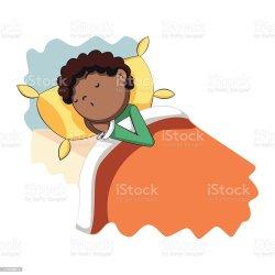 sleeping boy bed vector cartoon clip african american ethnicity schlafen istock artist similar pillow abstract bett