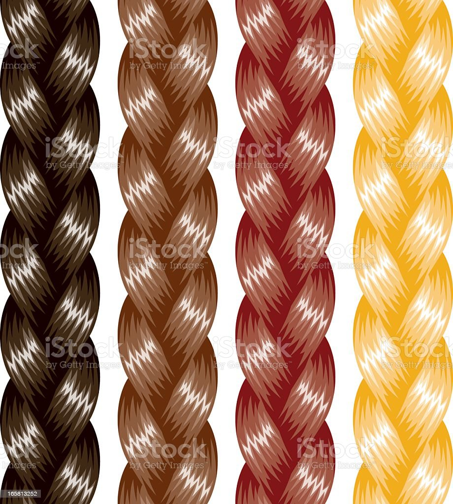 Braided Hair Stock Vector Art  More Images of Blond Hair